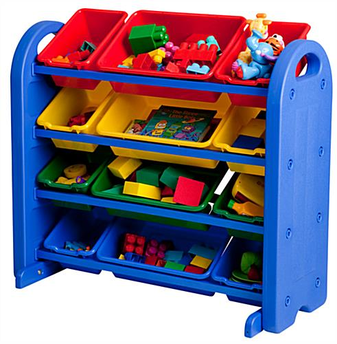 Children S Plastic Storage Organizer 4 Tiered Design