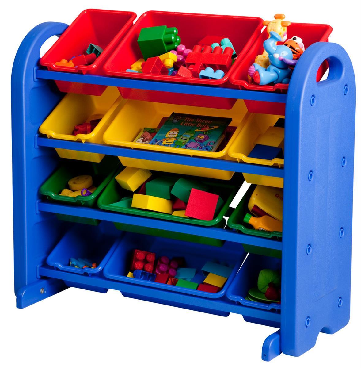 children s plastic storage organizer 4 tiered design. Black Bedroom Furniture Sets. Home Design Ideas
