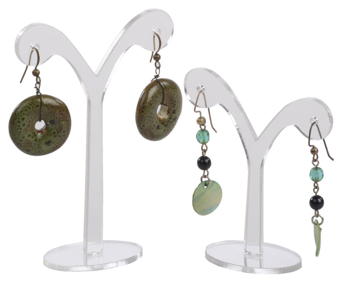 Clear Acrylic Earring Display Holds 1 Pair Each
