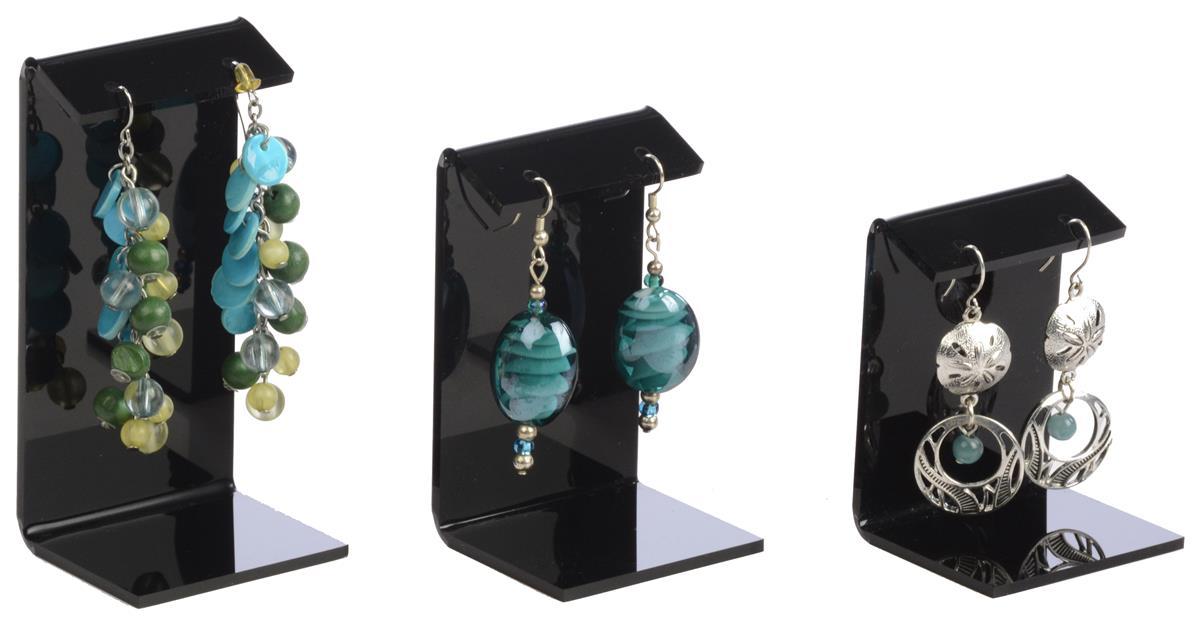 Black Small Earring Holder 3 Sizes Per Set