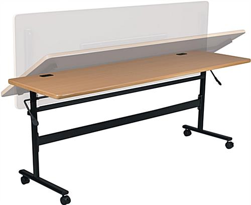 Teak Flipper Training Table with Steel Frame