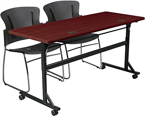 Mahogany Flipper Training Table Made from PVC