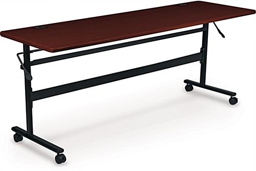 Mahogany Flipper Training Table, Freestanding
