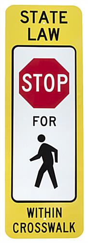 State Law Crosswalk Sign, Rectangular