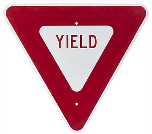 "Red Yield Sign, 24"" Wide"