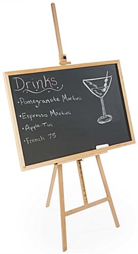 """36"""" x 48"""" natural chalkboard & easel 