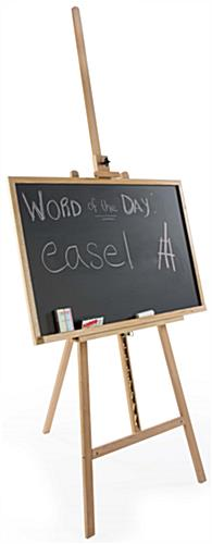 "24"" x 36"" Natural Chalkboard and Easel Comes with Chalk and Eraser"