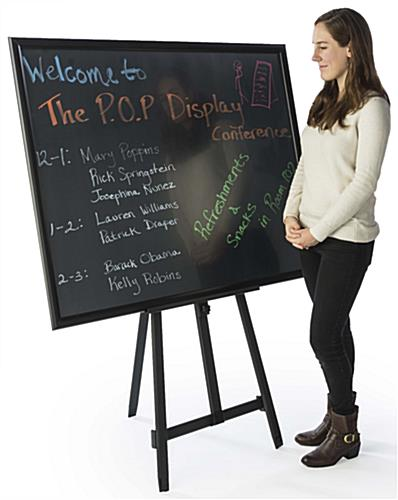 "36"" x 48"" Chalkboard with Aluminum Easel for Tradeshow Signage"