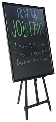 "36"" x 48"" Chalkboard with Aluminum Easel Included a Snap-Frame"
