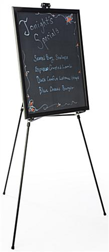 "22"" x 28"" Liquid Chalkboard and Aluminum Easel is Lightweight & Portable"