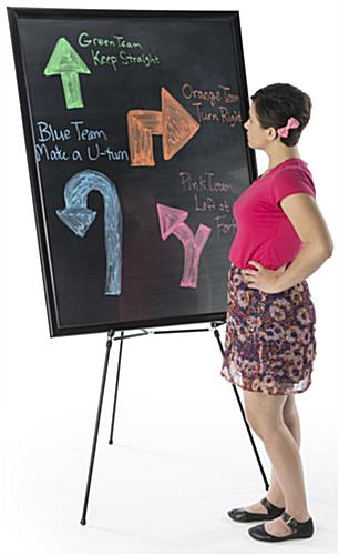 "36"" x 48"" Liquid Chalkboard and Aluminum Easel is Great for Tradeshows"