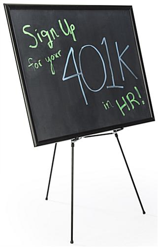 "36"" x 48"" Liquid Chalkboard and Aluminum Easel is Lightweight & Portable"