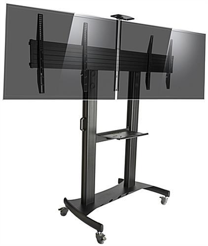 Dual Screen TV Stand with Adjustable Mount