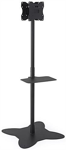 Black Dual Pole TV Stand