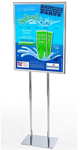 Exhibition Stand For Tv : Poster stands chrome finish easy sign replacement