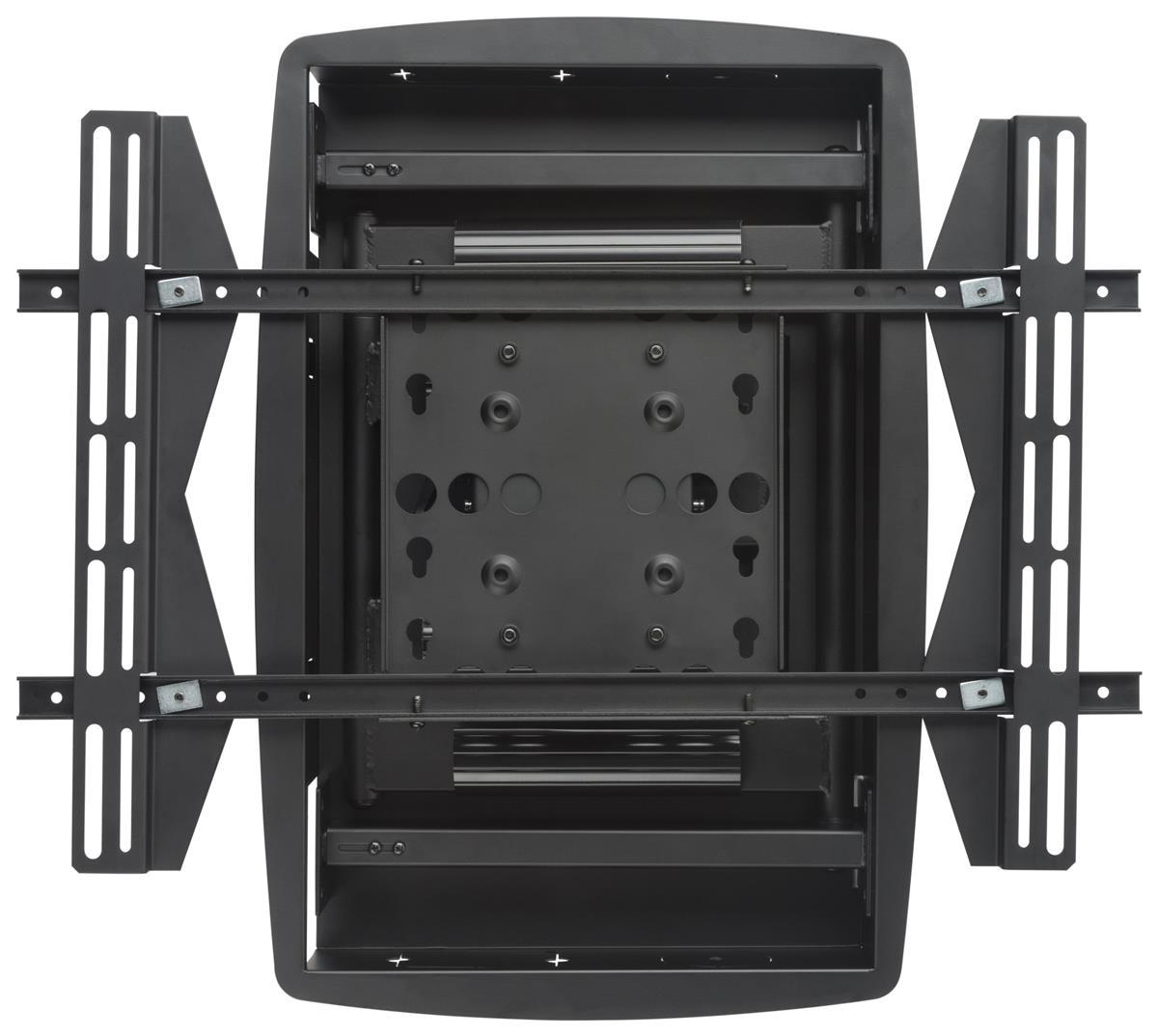 flush tv wall mount install between 16 studs. Black Bedroom Furniture Sets. Home Design Ideas