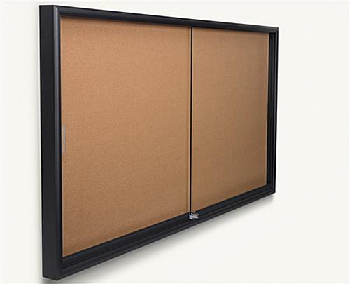 72 X 36 Large Cork Board W Black Aluminum Frame