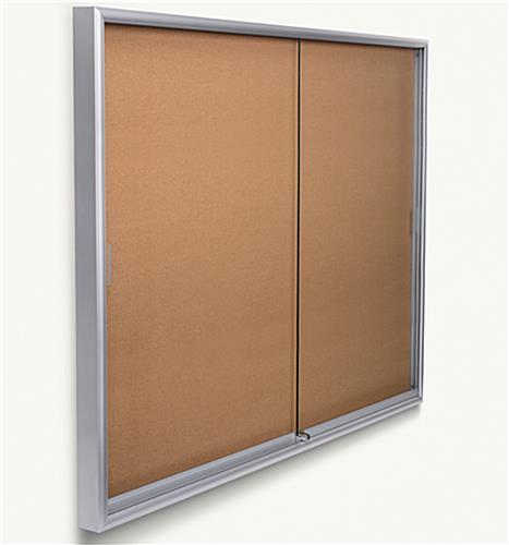 6 39 x 4 39 large bulletin board silver frame rolling doors. Black Bedroom Furniture Sets. Home Design Ideas