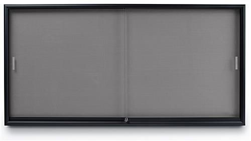Fabric Tack Board Bulletin Board With Locking Sliding Doors