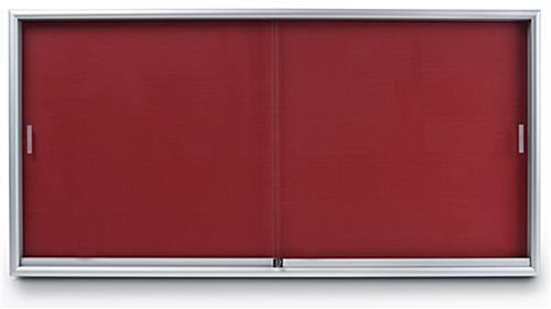 Fabric Notice Board With Aluminium Frame & Sliding Glass(3\'X4\')