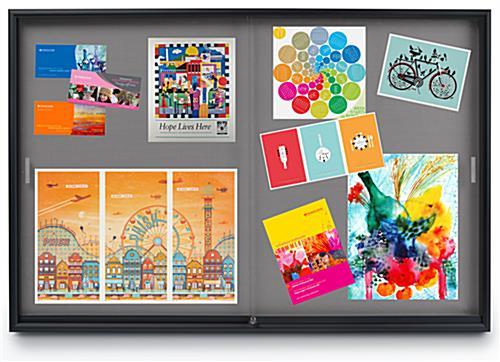 6 X 4 Office Bulletin Board Gray Fabric