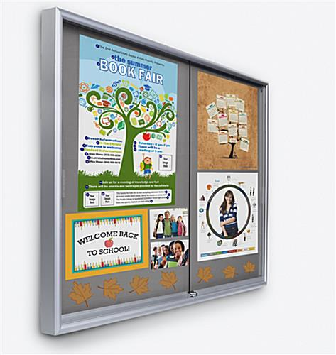 indoor enclosed bulletin board