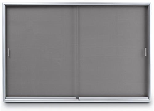 Indoor Enclosed Bulletin Board 6 X 4