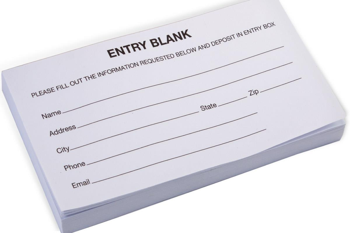 entry form pads