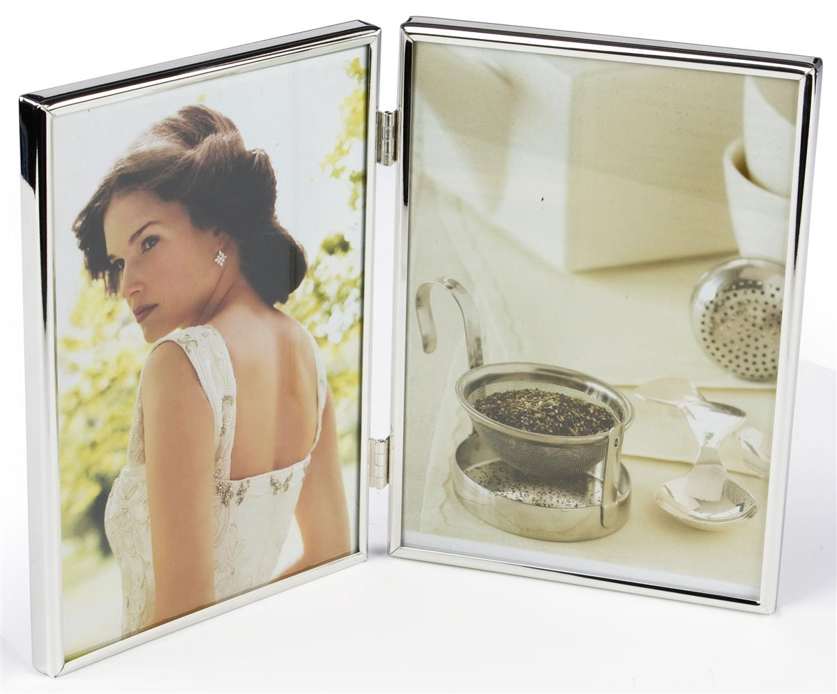 Metal Picture Frame | 5 x 7 Double Tabletop Frame