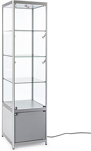 High Quality Lighted Silver Tower Display Case Lighted Silver Tower Display Case ...