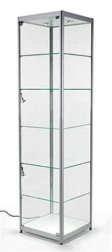 Silver Tower Showcases Tempered Glass Amp Aluminum Frame