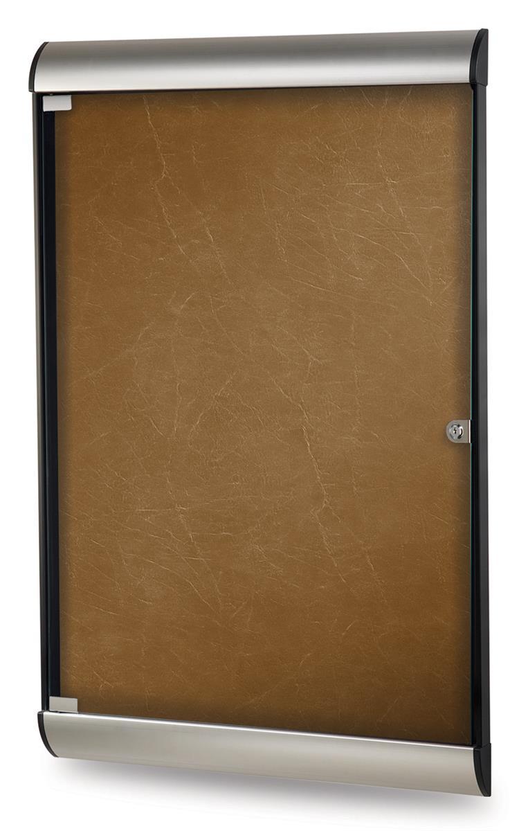 "Ghent 26.5"" x 36"" Enclosed Bulletin Board w/ Locking Door..."