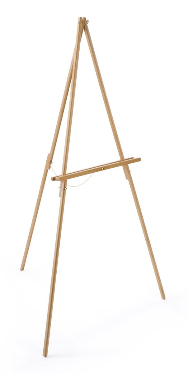 artist easel 59 beech wood easel with natural finish rubber feet