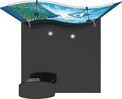 Custom Trade Show Booth with Curved Backdrop