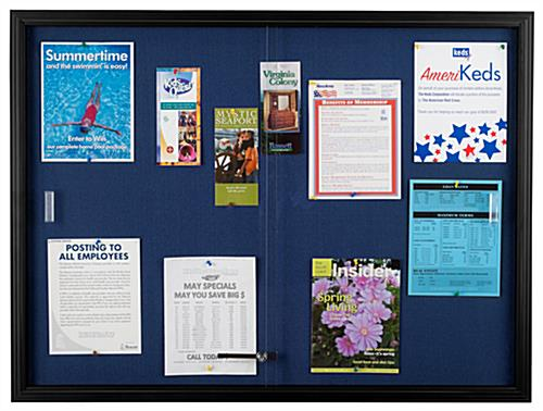 "Blue Fabric Bulletin Board, 36"" Tall"
