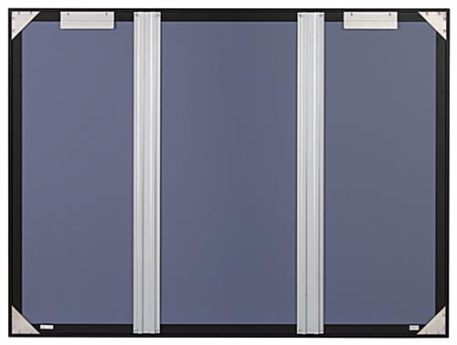 Aluminum frame bulletin board with wall-mounting brackets