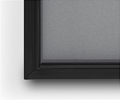 Aluminum frame bulletin board with sleek black aluminum frame