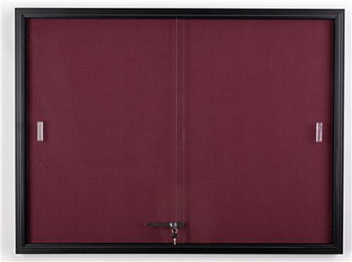 Sliding Door Fabric Board ... & 4\u0027 x 3\u0027 Sliding Door Fabric Board - Maroon Fabric Pezcame.Com