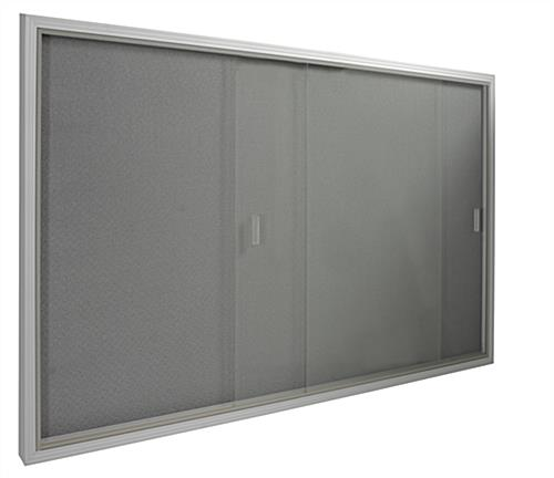 glass bulletin board