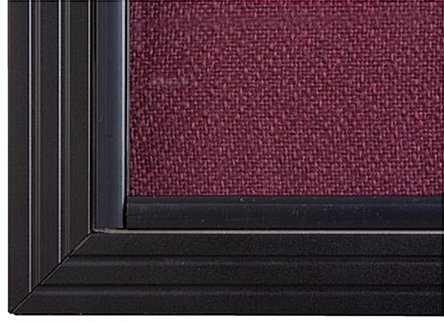 "Maroon Fabric Tack Board, 60"" Wide"