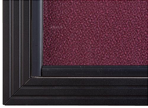 5 X 3 Maroon Fabric Tack Board Sliding Tempered Glass