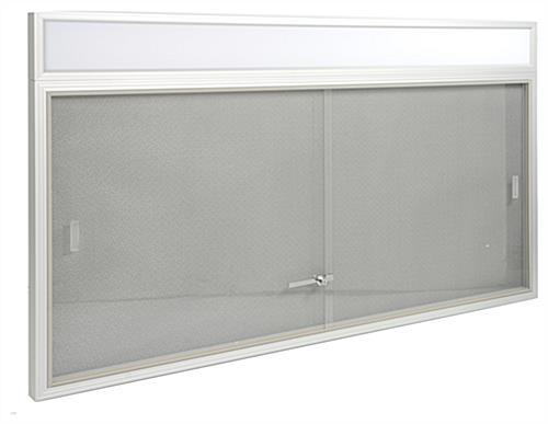 5 X 3 School Glass Bulletin Board With Fabric Tackboard