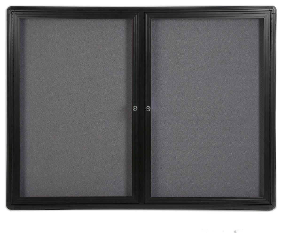 Enclosed Fabric Board 48 X 36 W Gray Interior