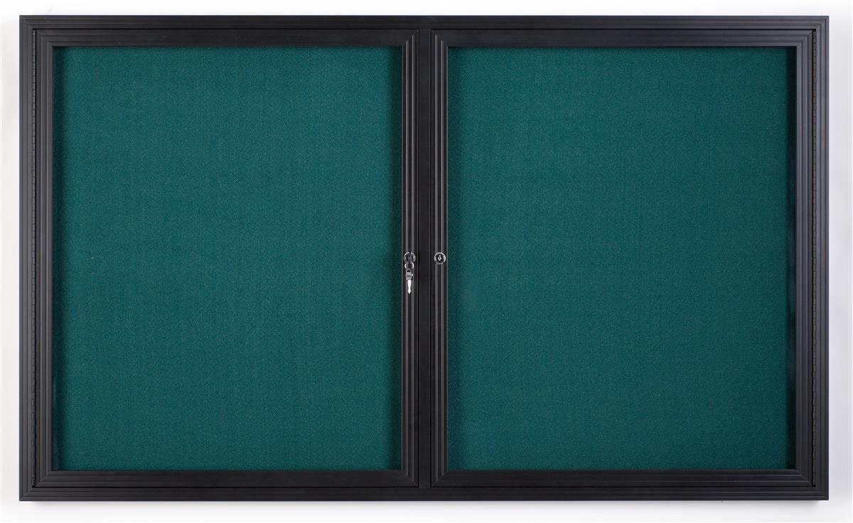 "Displays2go 60"" x 36"" Enclosed Bulletin Board with 2 Lock..."