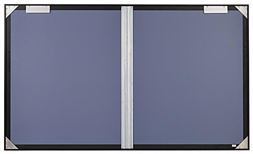 Polycarbonate notice board with brackets for indoor wall mounting