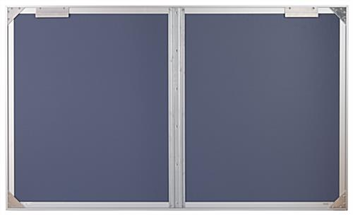 Enclosed polycarbonate bulletin board with brackets for wall mounting