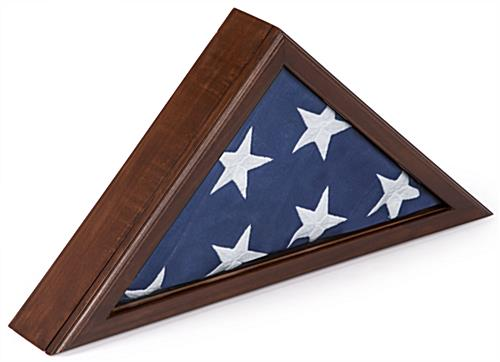 Memorial Flag Case with Traditional Military Look