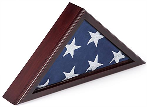 Flag Box Display with Solid Wood Frame