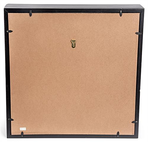 2-Flag Military Display Case with Hook on Back for Wall Mounting