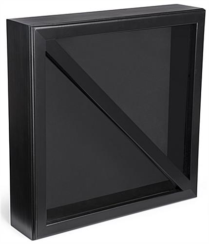 2-Flag Military Display Case with Black Felt Backing